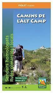 CAMINS DE L'ALT CAMP [1:40.000] -PIOLET