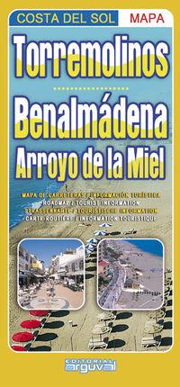 TORREMOLINOS - BENALMÁDENA - ARROYO DE LA MIEL (MAPA COSTA DEL SOL)