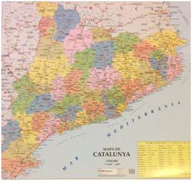 CATALUNYA, MAPA DE [MINI MURAL] 1:565.000 -TELSTAR
