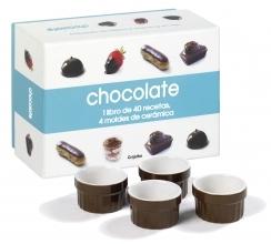 CHOCOLATE (CAJA LIBRO + 4 MOLDES)