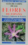 GUIA DE CAMPO DE LAS FLORES DE ESPAÑA