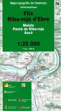 74 FLIX RIBA-ROJA D'EBRE 1:25.000 -UNITATS GEOGRAFIQUES -ICC