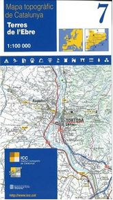 7 TERRES DE L'EBRE 1:100.000 -ICC
