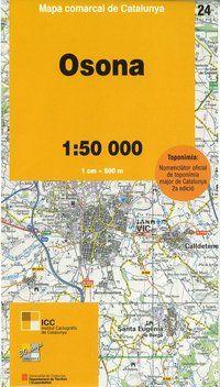 24 OSONA 1:50.000 -MAPA COMARCAL DE CATALUNYA ICC