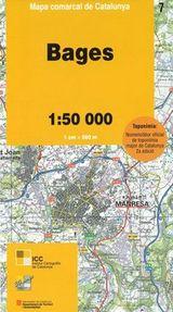 07 BAGES 1:50.000 -MAPA COMARCAL DE CATALUNYA ICC