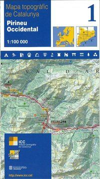 01 PIRINEU OCCIDENTAL 1:100.000 -ICGC