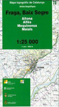 73 FRAGA, BAIX SEGRE 1.25.000 UNITATS GEOGRAFIQUES -ICC