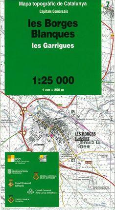 07 LES BORGES BLANQUES 1:25.000 LES GARRIGUES -ICC
