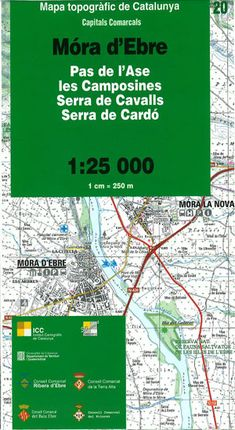 20 MORA D'EBRE 1:25.000 PAS DE L'ASE, LES CAMPOSINES, SERRA DE CAVALLS, SERRA DE CARDO -ICC