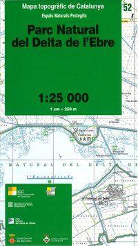 52 PN DEL DELTA DE L'EBRE 1:25.000 -ICGC