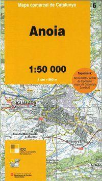 06 ANOIA 1:50.000 -MAPA COMARCAL CATALUNYA ICC