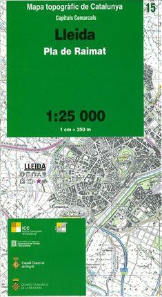 15 LLEIDA 1:25.000 CAPITALS COMARCALS -ICC