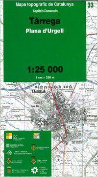 33 TARREGA 1:25.000 CAPITALS COMARCALS -ICC