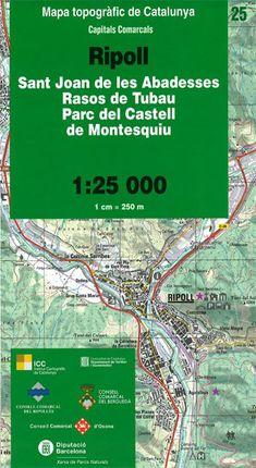 25 RIPOLL 1:25.000 -CAPITALS COMARCALS -ICC