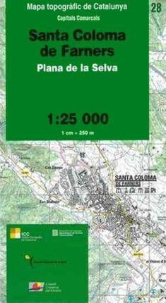 28 SANTA COLOMA DE FARNERS 1:25.000 -ICGC