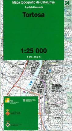 34 TORTOSA 1:25.000 -CAPITALS COMARCALS -ICC