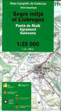 71 SEGRE MITJA, EL LLOBREGOS 1:25.000 -UNITATS GEOGRAFIQUES -ICC