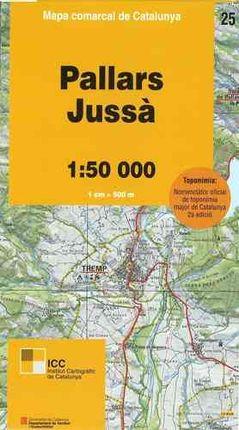 25 PALLARS JUSSA 1:50.000- MAPA COMARCAL DE CATALUNYA ICC