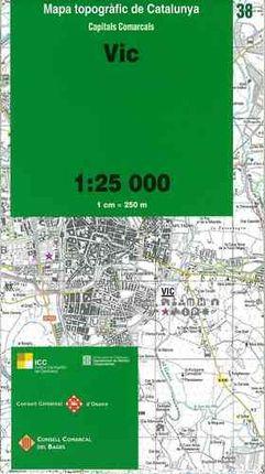 38 VIC 1:25.000 -CAPITALS COMARCALS -ICC