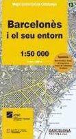 13 BARCELONÈS 1:50.000 -MAPA COMARCAL CATALUNYA -ICGC