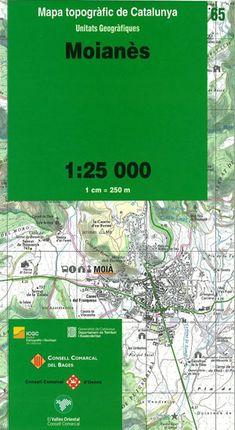 65 MOIANES 1:25.000 -UNITATS GEOGRAFIQUES -ICC