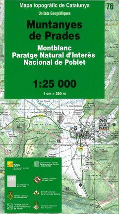 76 MUNTANYES DE PRADES 1:25.000 -UNITATS GEOGRAFIQUES -ICC