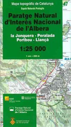 47 ALBERA 1:25.000 PARATGE NATURAL D'INTERES NACIONAL -ESPAIS NATURALS PROTEGITS -ICC