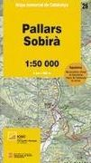 26 PALLARS SOBIRA 1:50.000- MAPA COMARCAL DE CATALUNYA -ICC