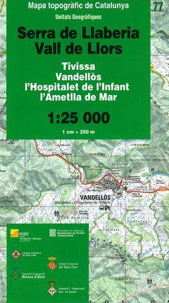 77 SERRA DE LLABERIA VALL DE LLORS 1:25.000 -UNITATS GEOGRAFIQUES -ICC