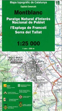 19 MONTBLANC 1:25.000 CAPITALS COMARCALS -ICC