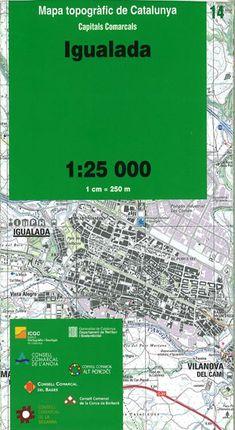 14 IGUALADA 1:25.000 CAPITALS COMARCALS -ICC