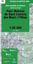 50 PARC NATURAL DE SANT LLORENÇ DEL MUNT I L'OBAC 1:25.000 -ICC