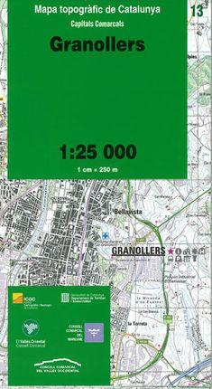 13 GRANOLLERS 1:25.000 -CAPITALS COMARCALS -ICC