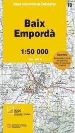 10 BAIX EMPORDA 1:50.000 -MAPA COMARCAL CATALUNYA ICC