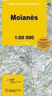 42 MOIANÈS 1:50.000 -MAPA COMARCAL DE CATALUNYA -ICGC