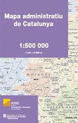 MAPA [PLEGAT] 1:500.000 ADMINISTRATIU DE CATALUNYA -ICGC