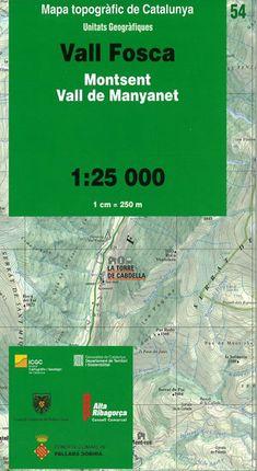 54 VALL FOSCA 1:25.000 UNITATS GEOGRAFIQUES  -ICC