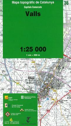 36 VALLS 1:25.000 -CAPITALS COMARCALS -ICC