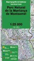 51 PARC NATURAL DE LA MUNTANYA DE MONTSERRAT 1:25.000 -ESPAIS NATURALS PROTEGITS -ICC
