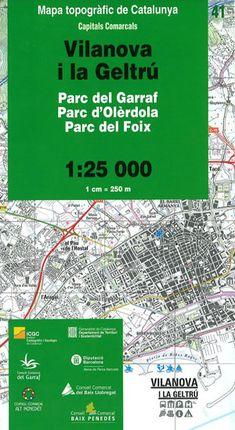 41 VILANOVA I LA GELTRU 1:25.000 -CAPITALS COMARCALS -ICC