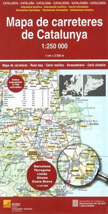 MAPA DE CARRETERES DE CATALUNYA 1:250.000 -ICGC