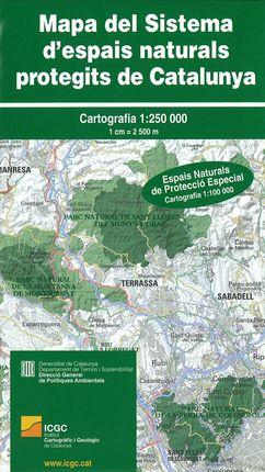 MAPA DEL SISTEMA D'ESPAIS NATURALS PROTEGITS DE CATALUNYA 1:250.000 -ICGC