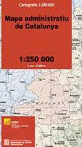 MAPA [PLEGAT] ADMINISTRATIU DE CATALUNYA 1:250.000 -ICGC