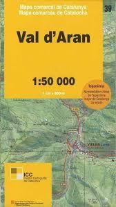 39 VAL D'ARAN 1:50.000 -MAPA COMARCAL CATALUNYA -ICGC