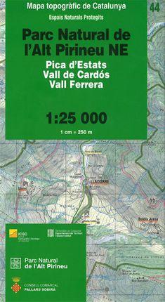 44 PN DE L'ALT PIRINEU NE 1:25.000 -ICGC