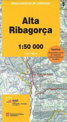 05 ALTA RIBAGORÇA 1:50.000 -MAPA COMARCAL DE CATALUNYA -ICGC