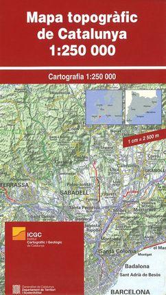 CATALUNYA [PLEGAT] MAPA TOPOGRÀFIC DE 1:250.000 -ICGC