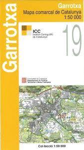 19 GARROTXA 1:50.000 -MAPA COMARCAL CATALUNYA ICC
