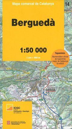 14 BERGUEDA 1:50.000 -MAPA COMARCAL CATALUNYA -ICGC