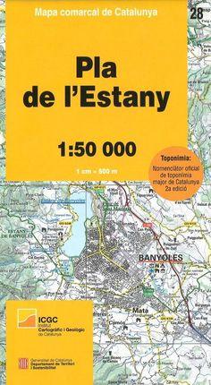 28 PLA DE L'ESTANY 1:50.000 -MAPA COMARCAL DE CATALUNYA -ICGC